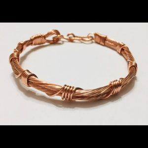 Copper Celtic Bracelet Raw Earthy Edgy Steam Hard